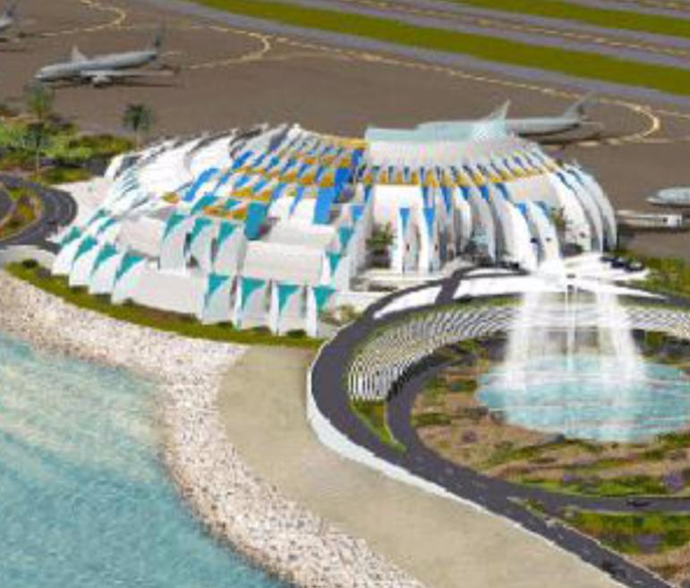New Doha International Airport Emiri Terminal Parking Structure & Mosque
