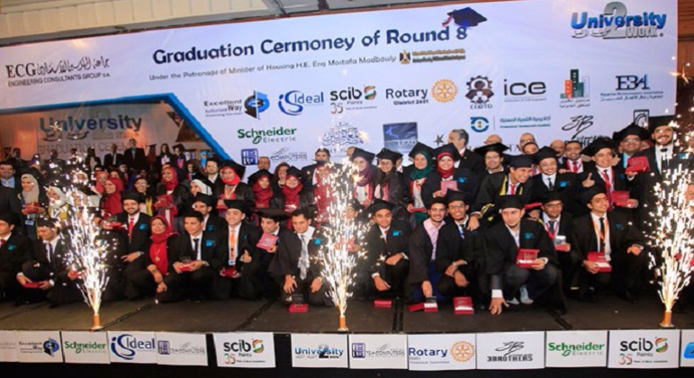 "Graduation Ceremony of ""University to Work"" Program (Round 8)"