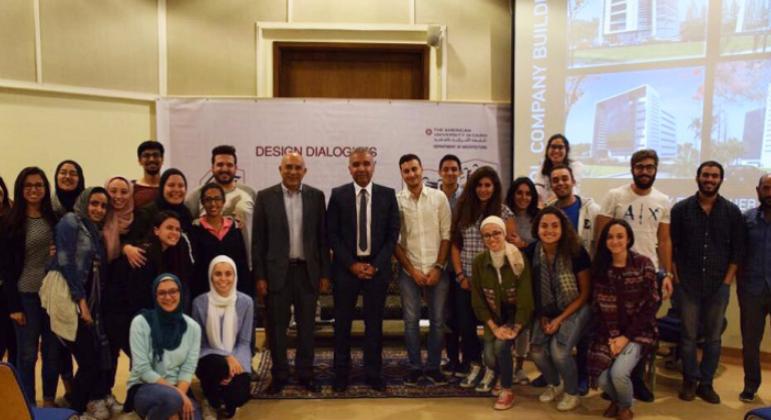 Eng. Moheb Marcos was a keynote speaker at a discussion forum held at the American University in Cairo (AUC)